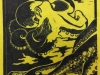 Octopus in Yellow and Black Linocut