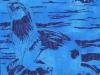 River Otter in Blue Linocut