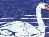 Swan Linocut