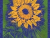 Sunflower in Blue Large Linocut