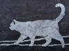 White Cat Linocut