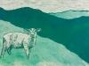 Lamb on Green Linocut