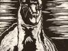 Llama Linocut
