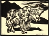 Yak Woodblock
