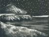 Mountain Landscape Collagraph