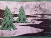 Evergreens Linocut