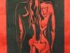Nude II Linocut