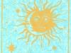 Abstract Sun and Moon Linocut